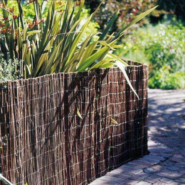 Elementi d 39 arredo in intrecciato di salice betulla e nocciolo for Complementi arredo giardino